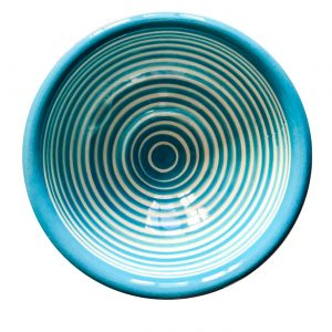 Striped everyday bowl aqua