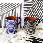 Striped horizontal 1L Jar