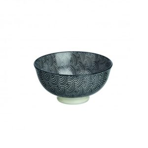 Set of 2 bowls in black Eventail