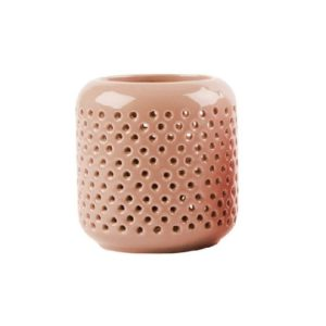 Tea light holder grid pink
