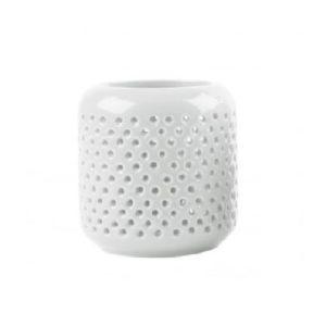 Tea light holder grid white