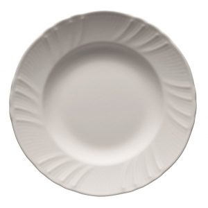 Deep plate romantic white