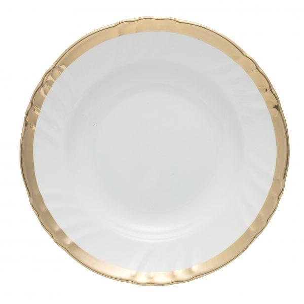 Deep plate romantic golden wire