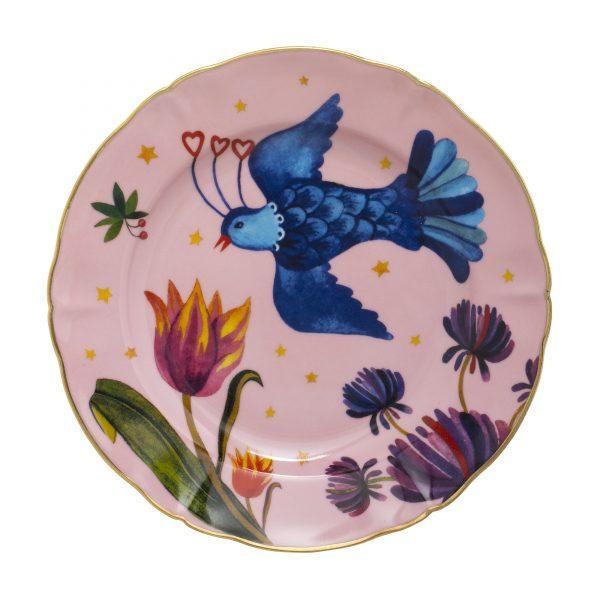 Fruit plate little bird