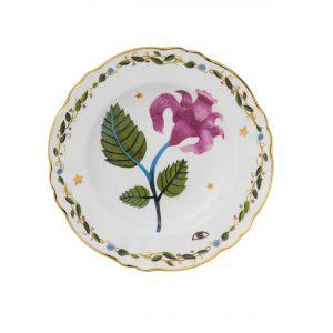 Deep plate pink flower