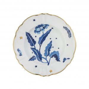 Deep plate blue flower