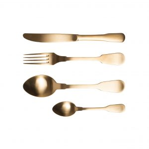Flatware cutlery set 24 pieces gold classic