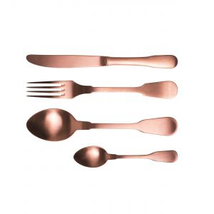 Flatware cutlery 24 pieces copper classic