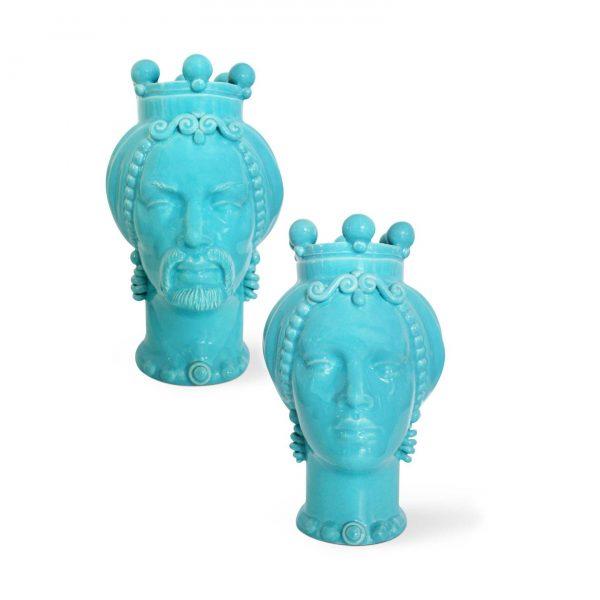 Pair of Moor's head picciotti innamorati big blue
