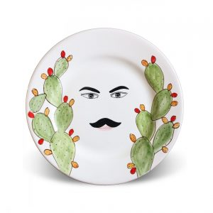 Plates with face Caltagirone – Gaspare