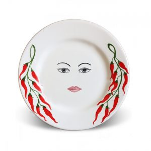 Plates with face Caltagirone – Ninella