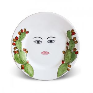 Plates with face Caltagirone – Titti