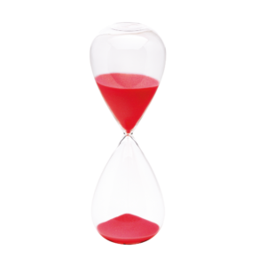 Hourglass red