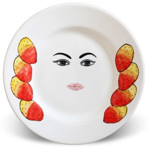 Plates with face Caltagirone – Tanita