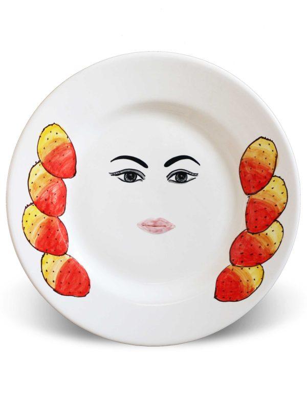 Plates with face Caltagirone – Tanita