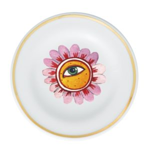 Dessert Plate flower eye