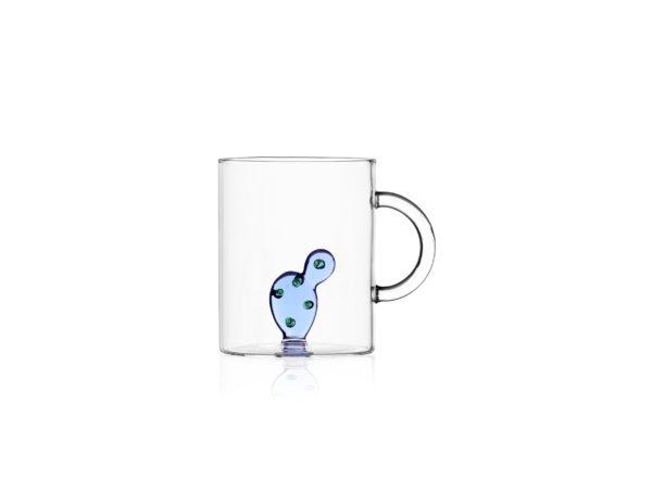 Desert plant mug cactus blue