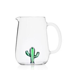 Desert plant jug cactus green-white