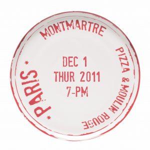 Pizza plate Paris