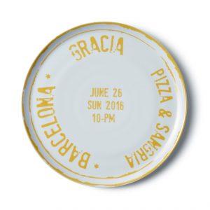 Pizza plate Barcelona
