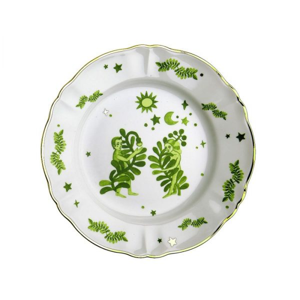 Dinner plate floral decal