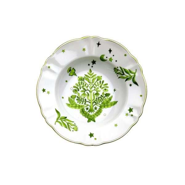 Deep plate floral decal